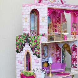 Kidkraft Rose Garden Castle with EZ Kraft Assembly Kidkraft Dollhouse