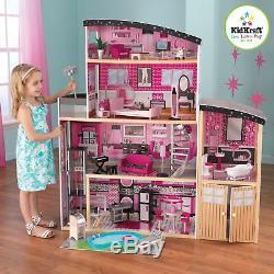Kidkraft Sparkle Mansion Dollhouse Large Girls Wooden Dolls House