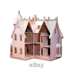 Kit Dollhouse House Wood Doll Wooden Diy Model Victorian Father Daughter Gifts