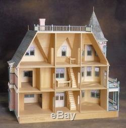 Kit para ensamblar Casa de muñecas Reina Ana Dollhouse Kit Queen Anne
