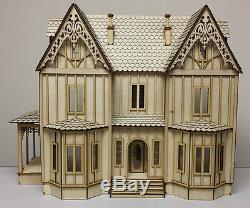 Kristiana Tudor 124 scale dollhouse Kit WITHOUT SHINGLES