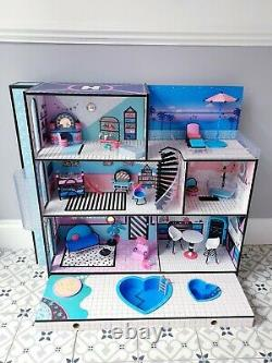LOL Doll Surprise OMG House With Furniture, Accessories and Extras Bundle Wood