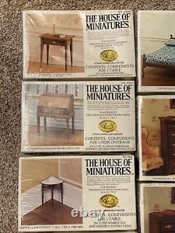 LOT OF 14 NEW THE HOUSE OF MINIATURES DOLLHOUSE FURNITURE KIT SEALED Chippendale