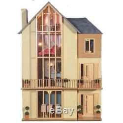 Lake View Dolls House Modern Unpainted Flat Pack Kit 112 Scale