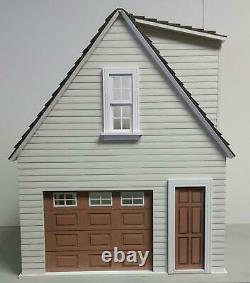 Lansdowne Single One Car Garage Dolls House Flat Pack Kit Laser Cut