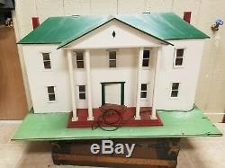 Large Wood Doll House Electric Hand made Vintage dollhouse