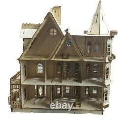 Leon Gothic Dolls House 148 Quarter 1/4 Inch Scale Laser Cut Flat Pack Kit