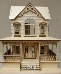 Little Briana Country Victrorian Cottage 124 Scale Dollhouse with shingles