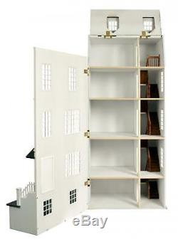Lofty Laurels Dolls Town House Flat Pack Space Saving 112 Scale MDF Wood Kit