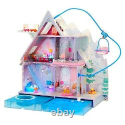 Lol Surprise Omg Winter Chill Cabin Wooden Doll House New
