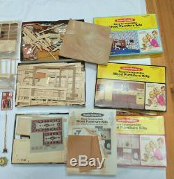 Lot Doll House Items Realife Miniatures Kits Heritage Series Many Extras Custom