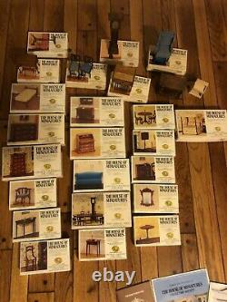 Lot Of 25 Mostly New The House Of Miniatures Dollhouse Furniture Kits Sealed
