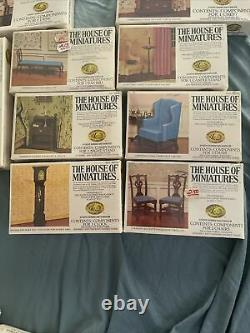 Lot of 12 The House of Miniatures Dollhouse Furniture Kits Sealed Vintage X-acto