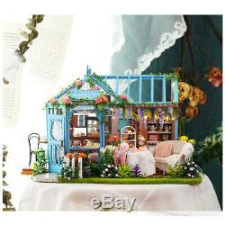 MagiDeal 1/24 Miniature Diorama Dollhouse DIY Kit Garden Cake Shop Tea House