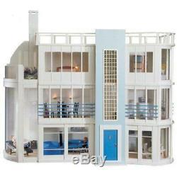 Malibu Beach Modern Art Deco Dolls House Unpainted Flat Pack Kit 112 Scale
