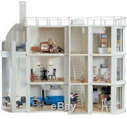 Malibu Beach Modern Art Deco Dolls House Unpainted Flat Pack Kit 112 Scale
