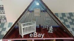 Melissa Doug Classic Heirloom Victorian Wooden Dollhouse & 7 Rooms of Furniture