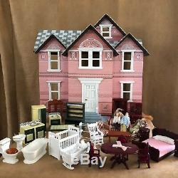 Melissa & Doug LOT furniture Classic Heirloom Victorian Wooden Dollhouse toy