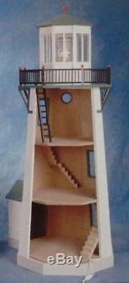 Melody Jane Dolls House Miniature 112 Scale Flat Pack Unpainted Lighthouse Kit