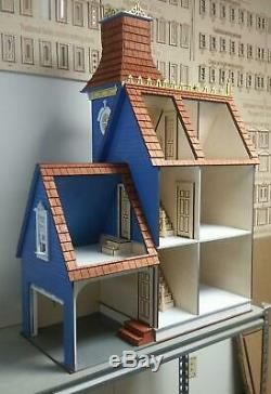Melody Jane The Hamlin Victorian Dolls House with Garage Flat Pack Laser Cut Kit