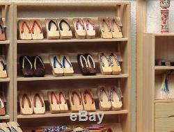 Miniature Craft Kit Geta Shoes Shop Large Sousaku Rakuza MADE IN JAPAN
