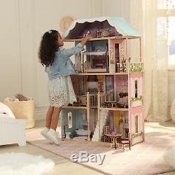 NEW Barbie Size Doll House Girls Dream Play Playhouse Dollhouse Wooden Furniture