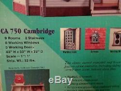 NEW Dura-Craft Wood CAMBRIDGE Dollhouse Kit CA-750 Old Stock 1991