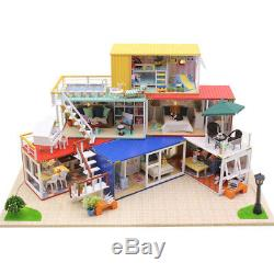 NEW Hoomeda 13843Z Container Home With Music Cover Light DIY Dollhouse Kit 3D
