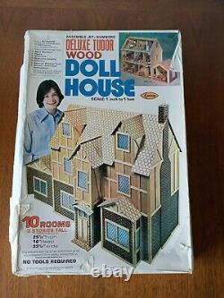 NEW Vintage Arrow Deluxe Tudor Wood Doll House Kit # 700