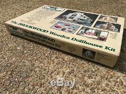 NEW Vtg 1987 Greenleaf BROOKWOOD Wooden DOLLHOUSE Kit 8017 NIB Miniature SEALED