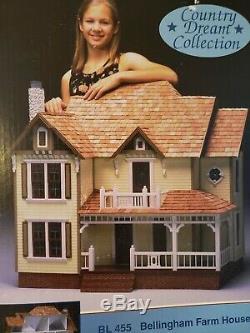 NIB Dura-Craft Bellingham Farm House Kit BL 455 3-Story Heirloom Doll House 1998
