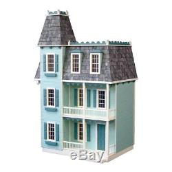 New Alison Jr 9 Room Dollhouse Kit 1 to 1 scale Sturdy Strong One Step Assembly