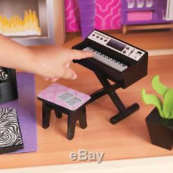 New KidKraft Modern Uptown Wood Barbie Dollhouse 35 Pieces Furniture Playset