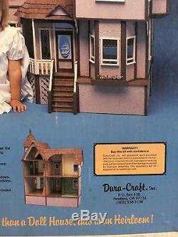 New Sealed Vintage Dura-craft Queen Anne Victorian Doll House Kit #575