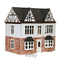 Orchard Avenue Tudor Dolls House Painted Flat Pack Kit 112 Scale