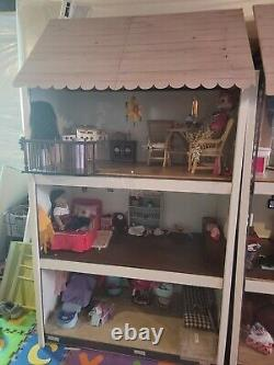 Qty4 American Girl size Dollhouses for 18-Inch Dolls. Houses only