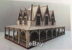Quarter 1/4 148 Scale Dollhouse Kit Barnard Built Gothic Style Fairytale Villa