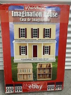 QuickBuild IMAGINATION HOUSE Doll House Kit 1 Scale New in Box