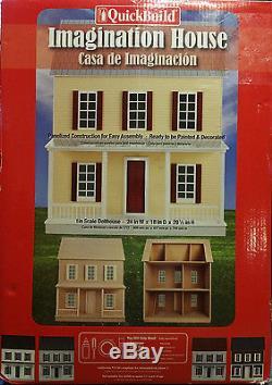 QuickBuild Imagination House Dollhouse Kit 1 Inch Scale # 67100