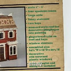 RARE! VTG The Rosedale Dollhouse Wood Kit By Greenleaf 100% Complete #8018 HTF