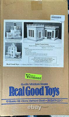 REAL GOOD TOYS JUNIOR CONSERVATORY DISPLAY Kit 1 scale MUST SEE, SHIPS FREE