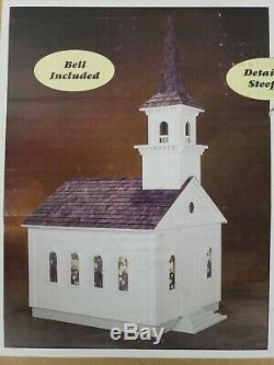 RETIRED Real Good Toys Country Church 1 Inch Scale CH-55 Wooden Dollhouse SCARCE