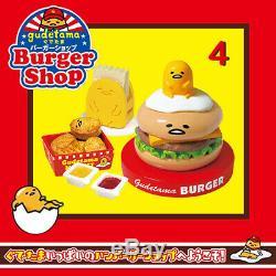 Rare 2017 Re-Ment Gudetama Burger Shop Full Set of 8 pcs