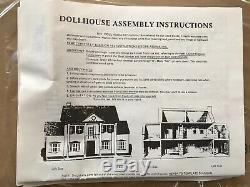 Rare Vintage Greenleaf THE Charleston Wooden Dollhouse Kit Open box 112 scale