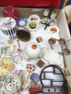 ReMent Kitchen Stove Table & Chairs Cabinet Lot Various Miniature Furniture