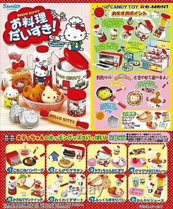 Re-ment Sanrio Dollhouse Hello Kitty I Love Cooking in Kitchen Full Set of 8 pcs