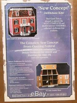 Real Good Toys 2201, Front-Opening Federal Dollhouse Kit (includes shutters)
