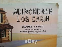 Real Good Toys ADIRONDACK DOLLHOUSE KIT Log Cabin J-550