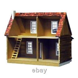 Real Good Toys Adirondack Log Cabin Dollhouse Kit