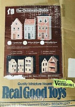 Real Good Toys Dollhouse Kit 22 Town Hill Road Front Opening New in Box (opened)